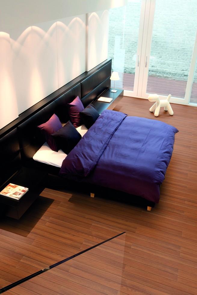 bedroom samoa teak sd1 Laminált parketta vízálló formában