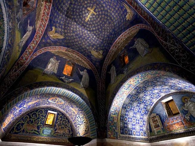 üvegmozaik, bizánci mozaik Ravenna