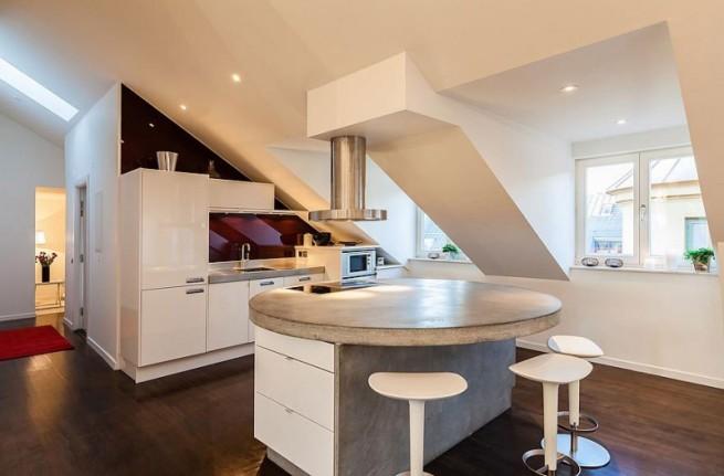 tetőtéri konyha berendezés