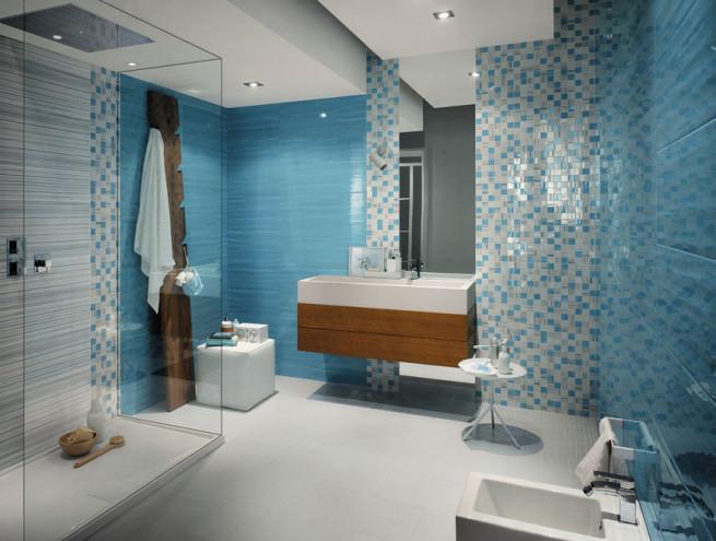 a kék fürdőszoba is lehet különleges, egyedi mi több, ütős választás