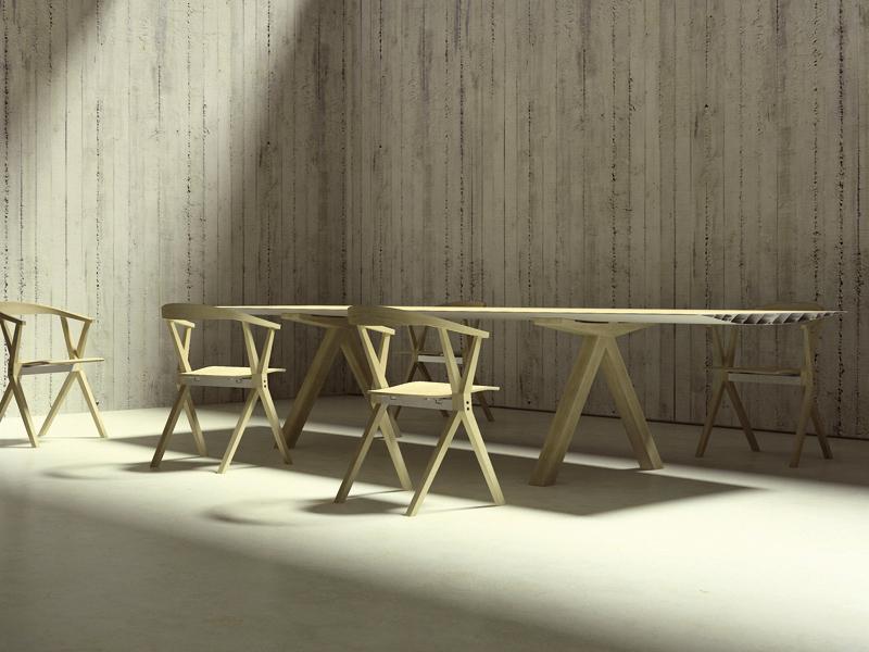 Barcelona Design - Constantin Grcic, Table B wood