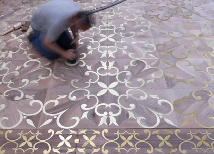 Parchettificio Toscano intarziás parketta