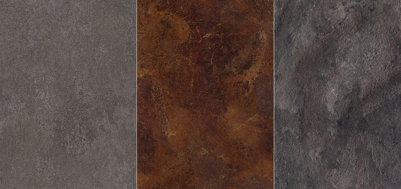 1./ F303 ST87 - Ferro Titan Grey, F310 ST87 - Ceramic Rust, 3./ F870 ST76 - Leon Slate